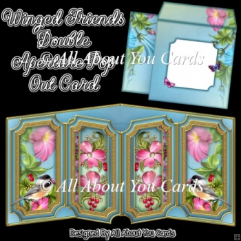 Winged Friends Double Aperture Pop Out Card