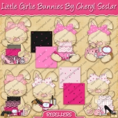 RESALE ART WORK - Little Girly Bunnies Collection