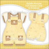 Ittybitty Romper Suit Shaped Card