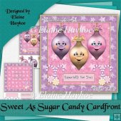 Sweet As Sugar Candy 8x8 Cardfront and Insert