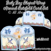 Baby Boy Shaped Wrap Around Gatefold Card