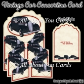 Vintage Car Concertina Card