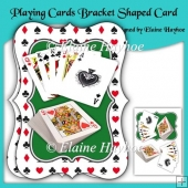 Playing Cards Bracket Shaped Card