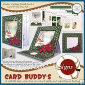 Winter Cottage Easel Card & Card Front Duo Kit