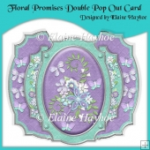 Floral Promises Double Pop Out Card with Envelope