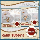 Special Delivery Baby Heart Shaped Fold Card Kits Twin Pack