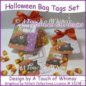 Halloween Bag Tags Set
