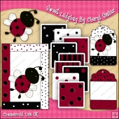 Sweet Ladybug ClipArt Graphic Collection