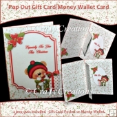 Peek a Boo Bear Pop Out Gift Card/Money Wallet Holder Card