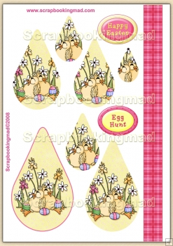 Pink Easter Egg Hunt PDF Teardrop Pyramage Download
