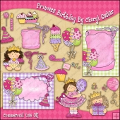 Princess Birthday ClipArt Graphic Collection