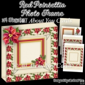 Red Poinsettia Photo Frame