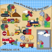 Vroom Vroom Birthday ClipArt Graphic Collection