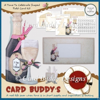 A Time To Celebrate Shaped Fold Card Kit