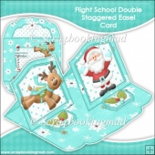Flight School Double Staggered Easel Card