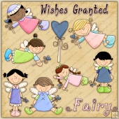 Fairy Girls ClipArt Graphic Collection