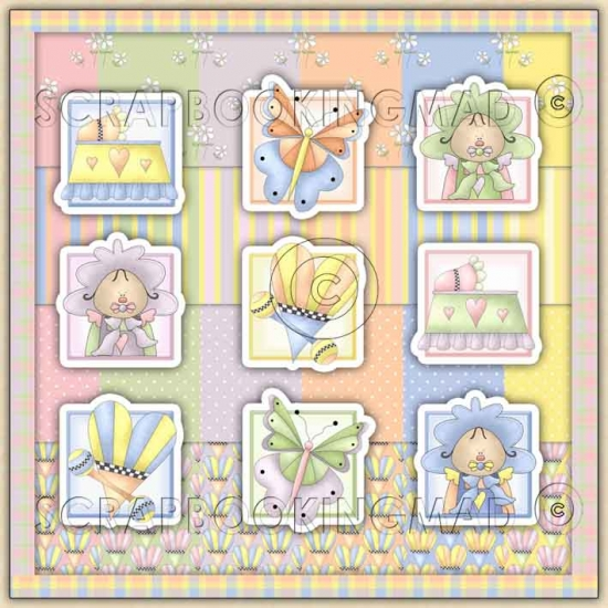 Little Baby Daisy Download Collection 108 coordinating Items - Click Image to Close