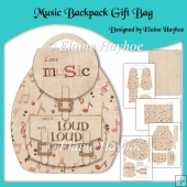Music Backpack Gift Bag
