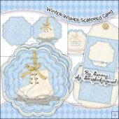 Winter Wishes Scalloped Card, Insert & Envelope