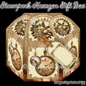 Steampunk Hexagon Gift Box