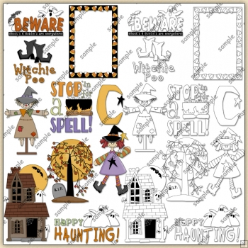 Hocus Pocus Halloween 1 ClipArt Graphic Collection