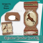 Reindeer Cracker Card Kit