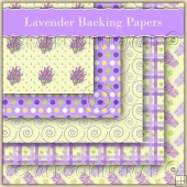 5 Lavender Backing Papers Download (C108)