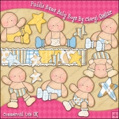 Puddle Bums Baby Boys ClipArt Graphic Collection