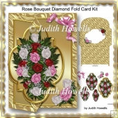Rose Bouquet Diamond Fold Card Kit