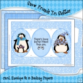 Snow Friends Tri Shutter Card