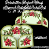 Poinsettia Shaped Wrap Around Gatefold Card