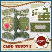 Winter Botanical Pyramage Tri Fold Cracker Card Kit