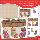 Hang Up Your Christmas Stocking Decoupage Download