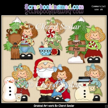 Happy Holly Visits The Northpole ClipArt Collection