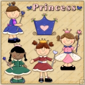 Little Princess ClipArt Graphic Collection