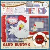 Chookie Greetings Decoupage Shaped Fold Card Kit