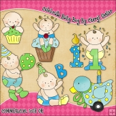 Celebrate Baby Boy ClipArt Graphic Collection