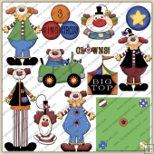 Clown Town ClipArt Graphic Collection