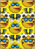 A4 Backing Papers Single - Yellow Football Heads - REF_BP_156