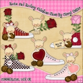 Rosie And Rodney Valentine Shoes ClipArt Graphic Collection