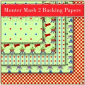 Monster Mash 2 Backing Papers Download (C68)