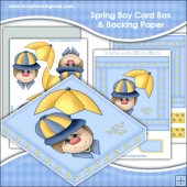 Spring Boy PDF Decoupage Card Box & Backing Paper Download
