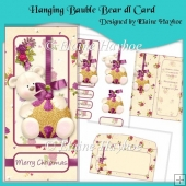 Hanging Bauble Bear dl Card