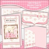 Grin N Bear It Money Card & Envelope