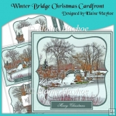 Winter Bridge Christmas Cardfront with Inverted Pyramage