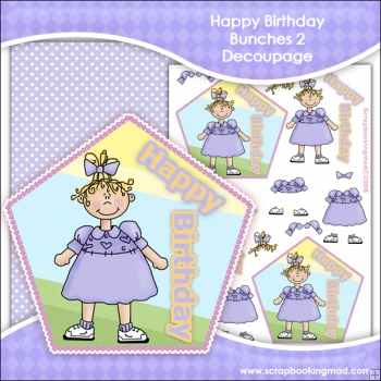Happy Birthday Bunches 2 Decoupage Download