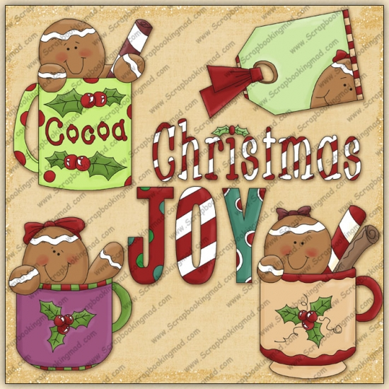 Cocoa Gingers ClipArt Graphic Collection - Click Image to Close