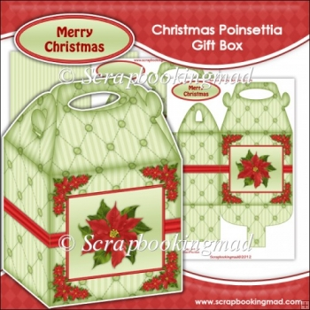 Christmas Poinsettia Gift Box