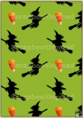 Backing Papers Single - Green Witches - REF_BP_80