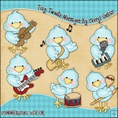 Tiny Tweets Musical ClipArt Graphic Collection
